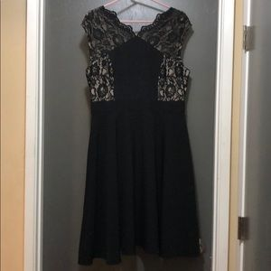 Maggy London Black and Nude dress